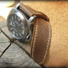 panerai 118 sur bracelet montre cuir canotage modèle horn
