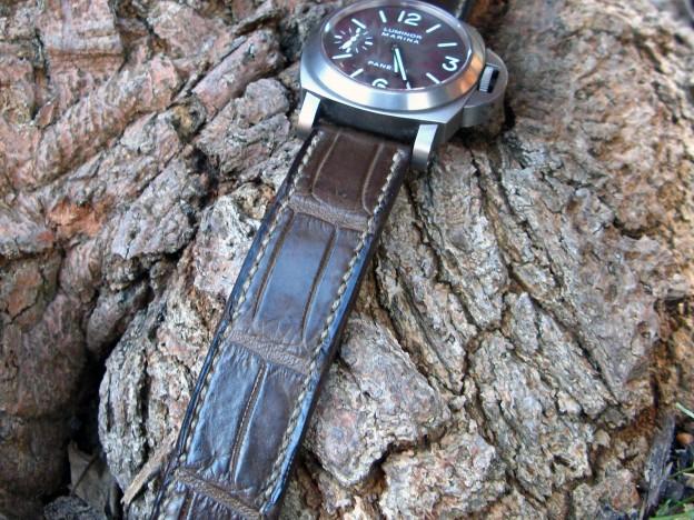 bracelet montre alligator canotage modele vanuatu