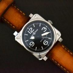 bell & ross sur bracelet montre cuir canotage modèle soay