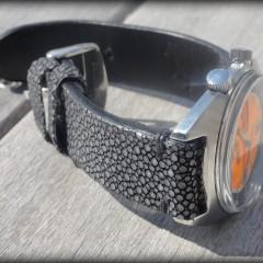bracelet montre galuchat modèle miyako