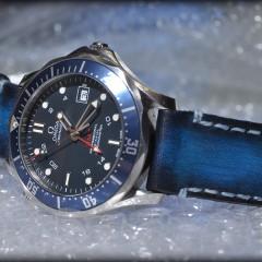 omega seamaster sur bracelet montre cuir canotage modèle lofoten