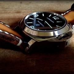 panerai 141sur bracelet montre cuir canotage modèle ischia