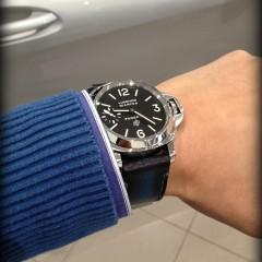 panerai 005 sur bracelet montre cuir canotage modèle lofoten