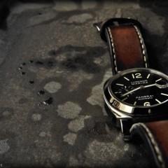 panerai 104 sur bracelet montre cuir canotage modèle orcade