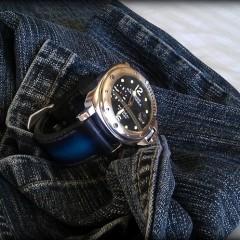panerai 24 sur bracelet montre cuir canotage modèle anaho