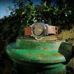 panerai 372 sur bracelet montre cuir canotage modèle saint pierre