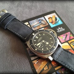 panerai 389 sur bracelet montre cuir canotage modèle kalliste gris