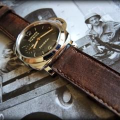 panerai 42 sur bracelet montre cuir ammo