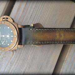 panerai bronzo sur bracelet montre cuir canotage modèle aran