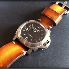 panerai sur bracelet montre cuir canotage modèle soay