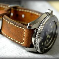 seiko marine master sur bracelet montre cuir ammo
