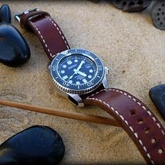 seiko marinemaster sur bracelet montre cuir ammo