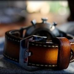 steinhart aviation vintage sur bracelet montre cuir canotage modèle soay