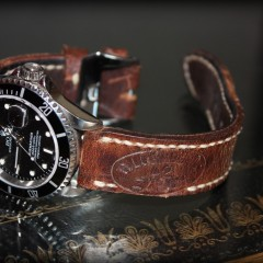 rolex submariner sur bracelet montre cuir ammo
