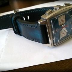 tag heuer monaco sur bracelet montre cuir canotage modele lofoten
