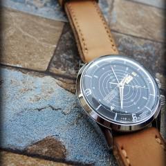 vulcain nautical sur bracelet montre cuir canotage modèle kalliste