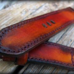 bracelet montre cuir canotage modèle patiné