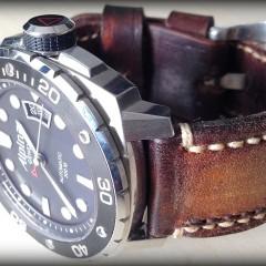 montre alpina sur bracelet montre cuir canotage modèle orcade