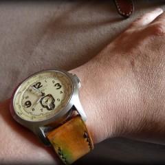 hamilton khaki sur bracelet montre cuir canotage modèle molène