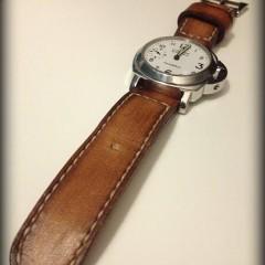 panerai 003 sur bracelet montre cuir canotage modèle orcade