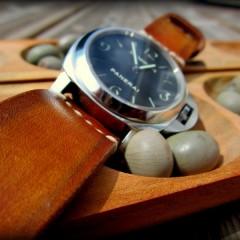 panerai 111 sur bracelet montre cuir canotage modèle soay