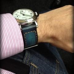 panerai 113 sur bracelet montre cuir canotage modèle anaho