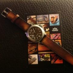 panerai 177 sur bracelet montre cuir canotage modèle valentia