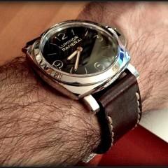 panerai 372 sur bracelet montre cuir canotage modele sao tome