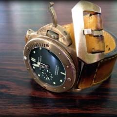 panerai bronzo sur bracelet montre cuir canotage modèle molene