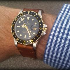 rolex gmt sur bracelet montre cuir ammo