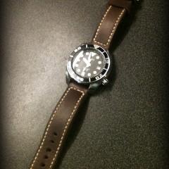 seiko sumo sur bracelet montre cuir canotage modèle copeland