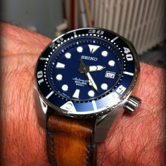 seiko sumo sur bracelet montre cuir canotage modèle orcade