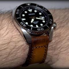 seiko sumo sur bracelet montre cuir canotage modèle soay