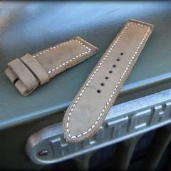 bracelet montre cuir canotage modèle kallisté kaki