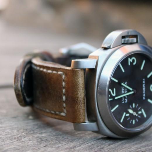 panerai 118 sur bracelet montre cuir ammo