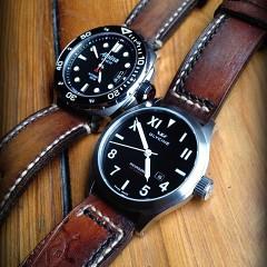 montres alpina et glycine sur bracelet montre cuir canotage