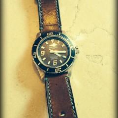 breitling super ocean sur bracelet montre cuir ammo