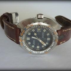 doxa sharkhunter sur bracelet montre cuir ammo