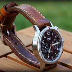 montre hanhart sur bracelet montre cuir ammo