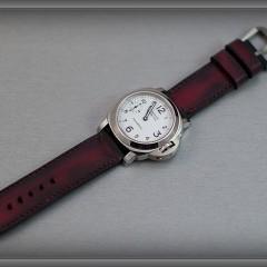 panerai 113 sur bracelet montre cuir canotage modèle lanzarote