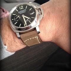 panerai 241 sur bracelet montre cuir canotage modèle kalliste kaki