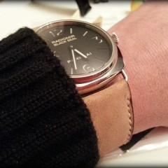 panerai radiomir black seal sur bracelet montre cuir canotage modèle kalliste