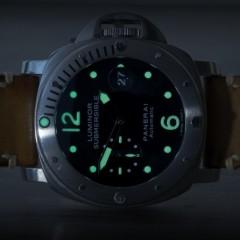 panerai submersible sur bracelet montre cuir canotage modele kallisté