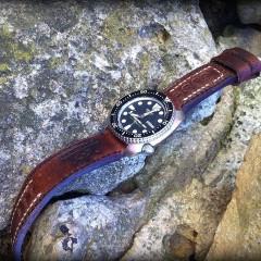 seiko 6309 sur bracelet montre cuir ammo