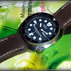seiko 6309 sur bracelet montre cuir canotage modèle fastnet