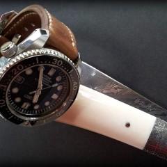 seiko marine master sur bracelet montre cuir canotage modèle fraser