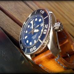 seiko sumo sur bracelet montre cuir canotage modèle ischia