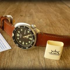 seiko vintage sur bracelet montre cuir ammo