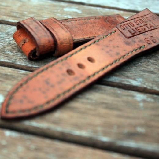 bronzo et bracelet montre cuir ammo