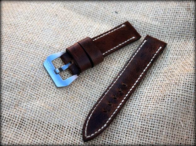 bracelet montre cuir ammo pour seiko marine master